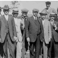 Wausau Country Club founders (left to right): J.H. Thickens, L.R. Spencer, J.L. Sturtevant, Col. Henry L. Graves, M.P. McCullough, D.C. Everest, L.A. Pradt, Mr. Cline, G.G. Steele, L.M. Alexander, Judge A.H. Reid, M.C. Ewing, L.K. Baker, George Foster, H.S. Flieth.