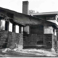 1950, fire damage to the rear of the clubhouse.